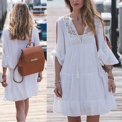 2017 Newest Woman Swimwear Cover Up Beach Dress Tops Bikini Set Cover Up Dress Clothes Women Lace Crochet Bathing Suit Bikini 4