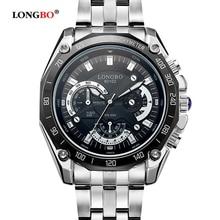 LONGBO Top Brand Business Watch Fashion Quartz Analog Watch Men Sport Wristwatch Stainless Steel Men's Watch Clock Back Light цена