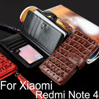 For Xiaomi Redmi Note 4 Case Luxury Crocodile Snake Leather Flip Cover Card Slot Business Wallet