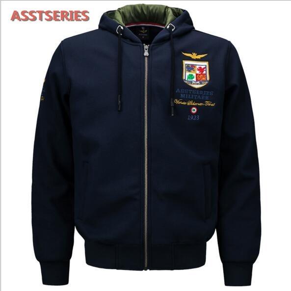 Air Force One Hochwertige Baumwolle herren Sweatshirts Erweiterte Stickerei Warme Hoodies Aeronautica Militare manner Marke