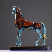 Resin Craft Horse Figurine Statue Office Ornaments Sculpture Home Decoration Accessories Horse Sculpture Home Decor Horse Craft