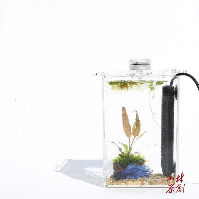 Betta Pesci Tropicali Mini Nano Arcylic Acquario Piccola Vasca Per I Pesci  Breve Riscaldamento