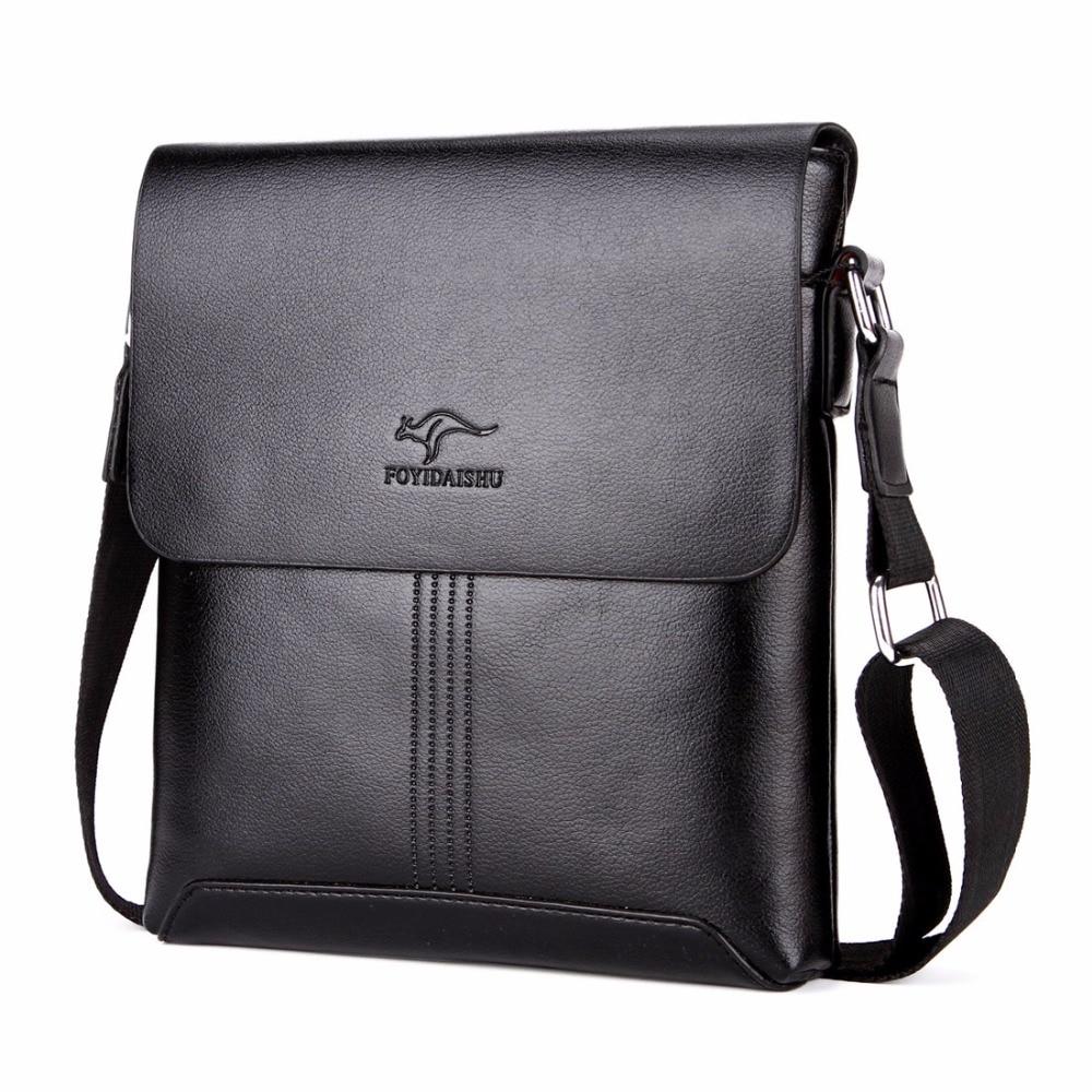 цена Kangaroo Hot Sell Solid Soft Leather Men Messenger Bag Brand fashion shoulder bag Mens crossbody Bag Mens Handbags