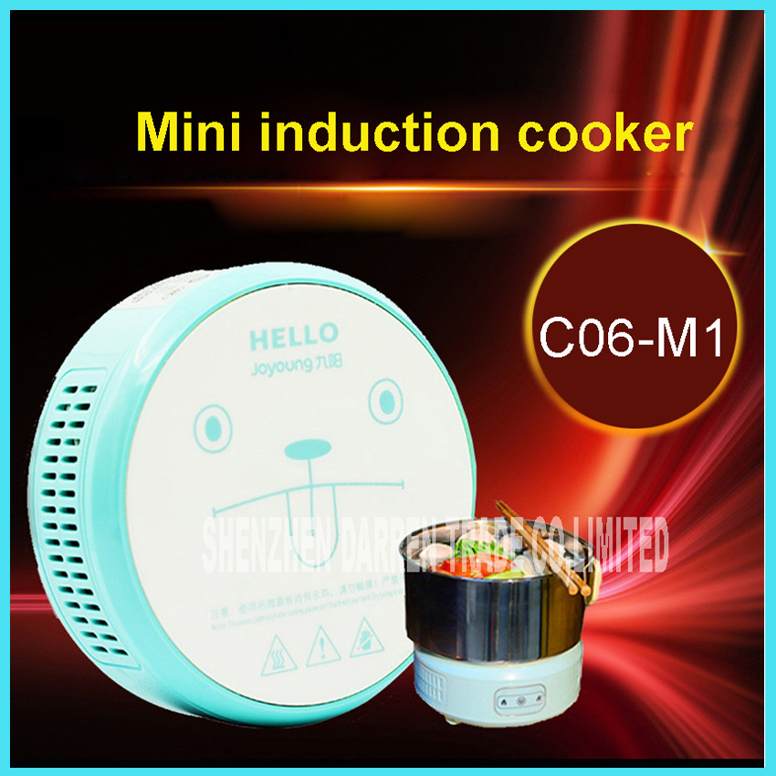 ФОТО Student induction cooker portable electric induction cooker Mini pot electric heating cup Mini Electric skillet  C06-M1 600W