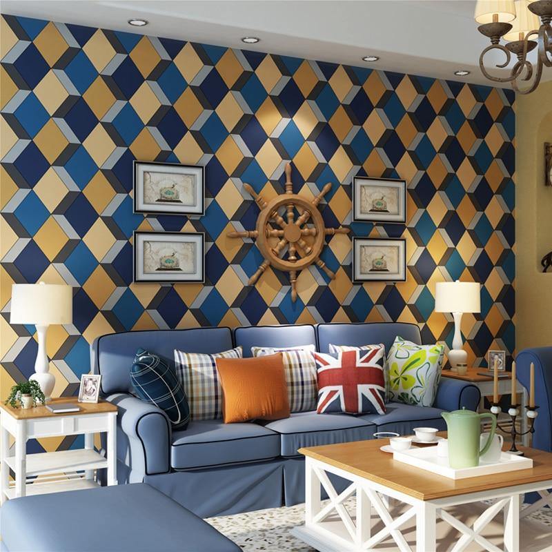 Popular Geometric Wallpapers-Buy Cheap Geometric