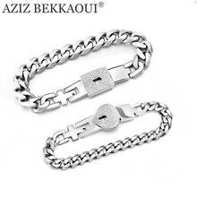 Браслет AZIZ BEKKAOUI из нержавеющей стали, замок для ювелирных изделий и ключей