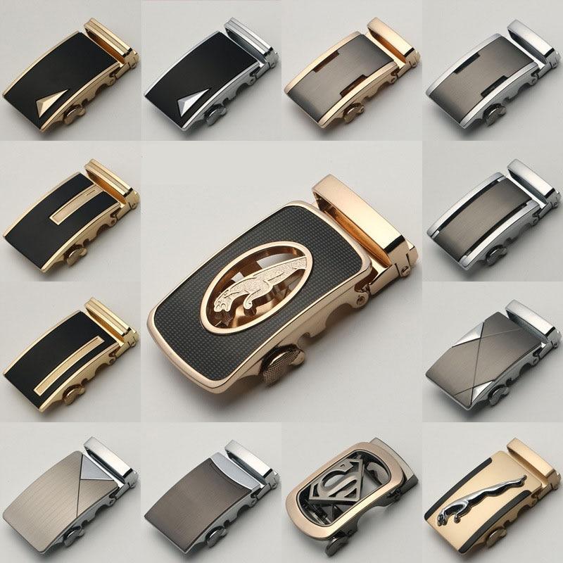 KWD 2019 Luxury Brand Designer Belts Laser Metal Automatic Buckle For 3.5cm Width Leather Belt Buckle Wholesale No Leather Kemer