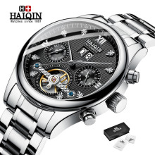 HAIQIN Watch Men Top Brand Luxury Military Sports Tourbillon Clock Fashion Men's Watches Automatic Mechanical Relogio Masculino read military full steel brand automatic self wind relogio masculino watches mechanical fashion luxury men watch clock pr137