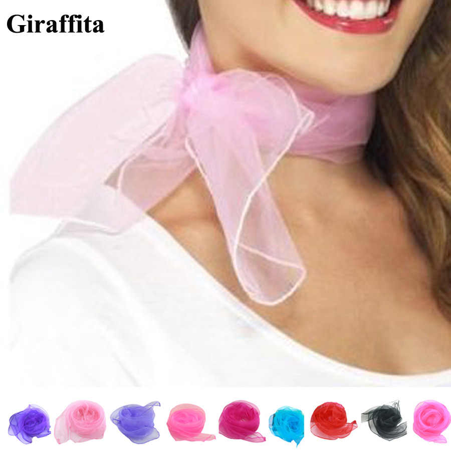New Fashion Elegant Anti-sandstorm Candy-colored Small Square Scarf 20 Colors Drop Shipping