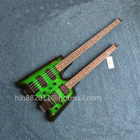 free shipping new Big John double neck 4 strings headless electric bass and 6 strings electric guitar in green F 3355