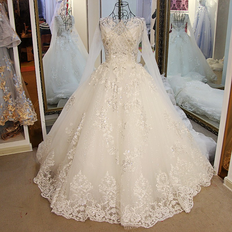 Sparkling Long Sleeve Wedding Dresses
