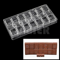 Pastry Tools Polycarbonate Chocolate Mold Chinese Style Table Casual Games Mahjong With Dice Shaped Making Chocolate