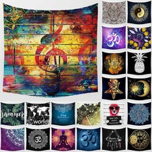 Hot sale square shape creative lion feather pattern wall hanging tapestry home decoration tapiz pared