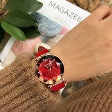 Scottie Роскошные красные женские часы водонепроницаемые с кожаным ремешком качественные кварцевые наручные часы женские простые элегантные платья Montre Femme