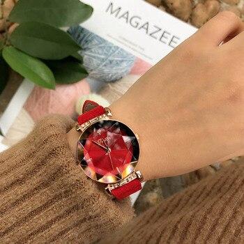 Ρολόι Χειρός Πολυτελείας Γυναικείο Με Δερμάτινο Λουράκι