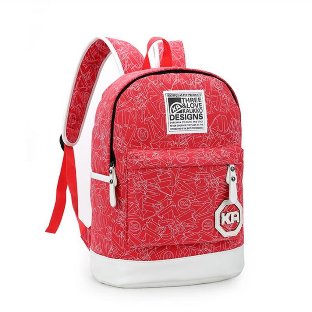 School bags for youth -  Canvas Printed Casual School Style Youth Trend School Bag 2016 Girls Hit Color Backpack Simple Style