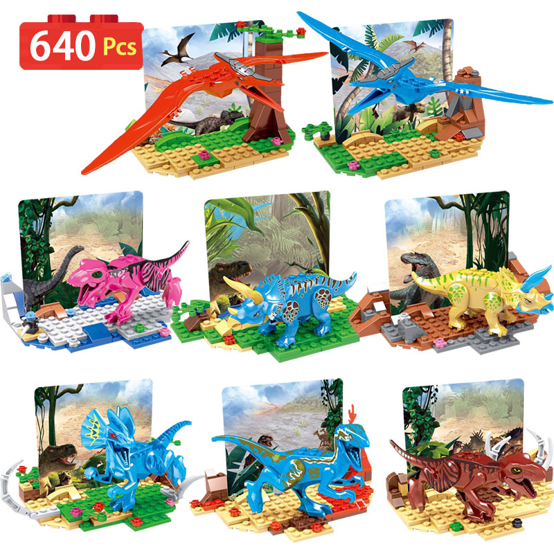 Jurrassic Dinosaur Figures Building Blocks World Tyrannosaurus Model Bricks Toys For Children Compatible With LegoINGLYS bwl 01 tyrannosaurus dinosaur skeleton model excavation archaeology toy kit white