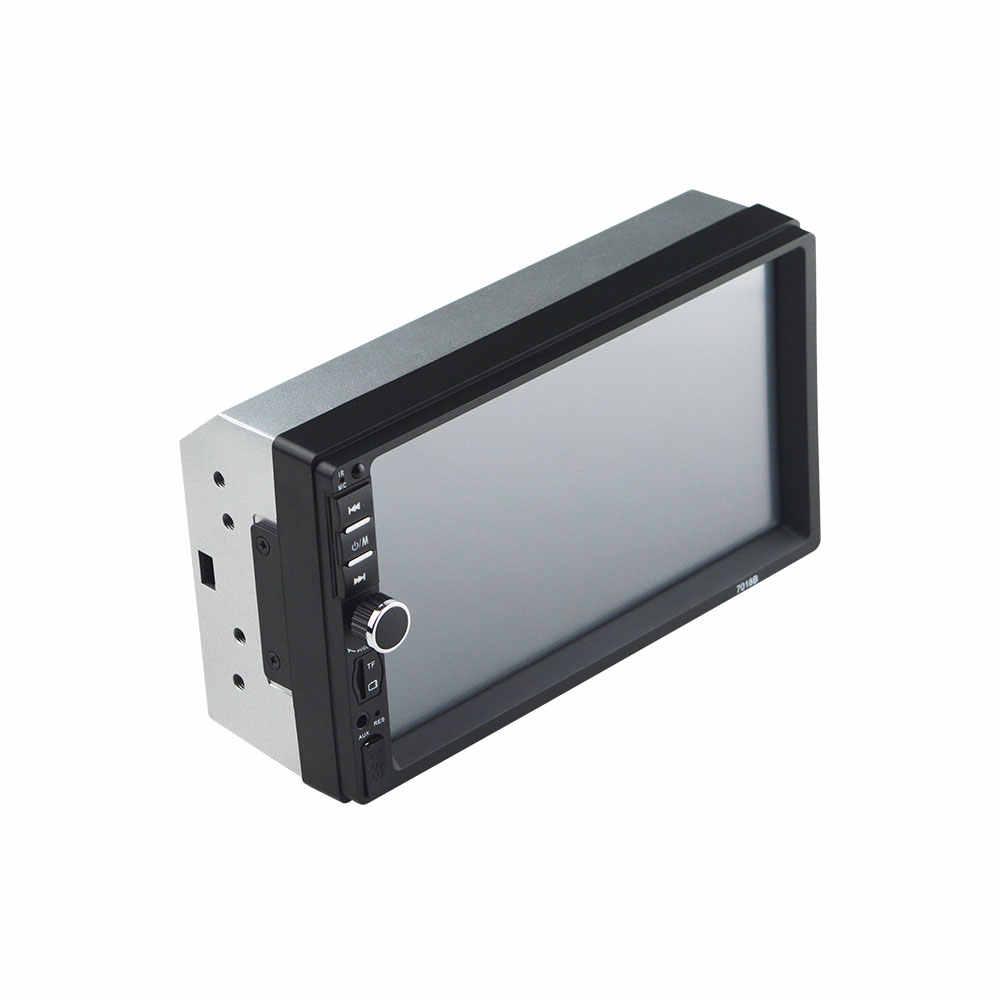 """Авторадио 2 din автомагнитола 7 """"HD плеер MP5 сенсорный экран цифровой дисплей Bluetooth мультимедийный автомобильный резервный монитор Зеркало Ссылка 7018B"""