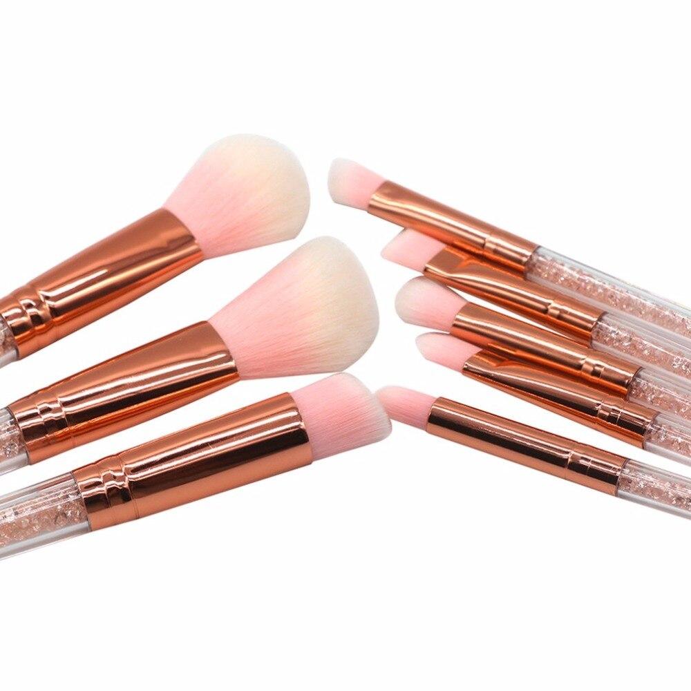 8 teile/satz Make-Up Pinsel Set Kristall Diamant Griff Foundation ...