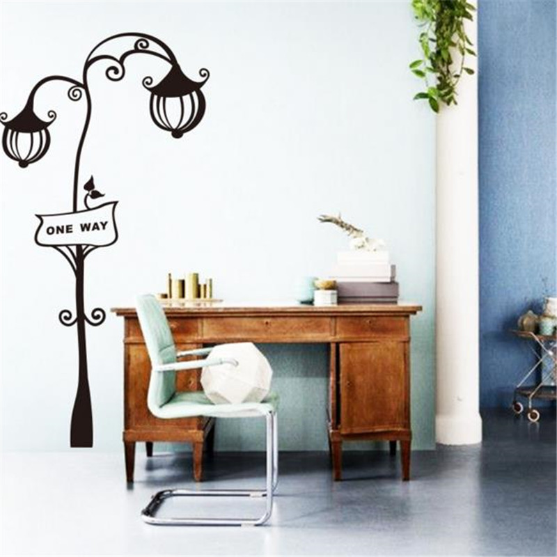 Cheap Home Decor Stores: Popular Cheap Removable Home Decor Road Lights Wall