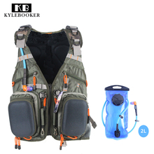 Multifunction Outdoor Fishing bag sport backpack hunting  fishing vest  climbing  accessory bag+2L Hydration Water Pack Bladder
