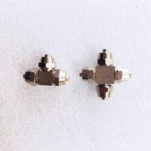 5 шт. аквариума co2 системы аксессуары высокого давления металлический делитель co2 trachea разъем для 4*6 мм co2 специальная трубка