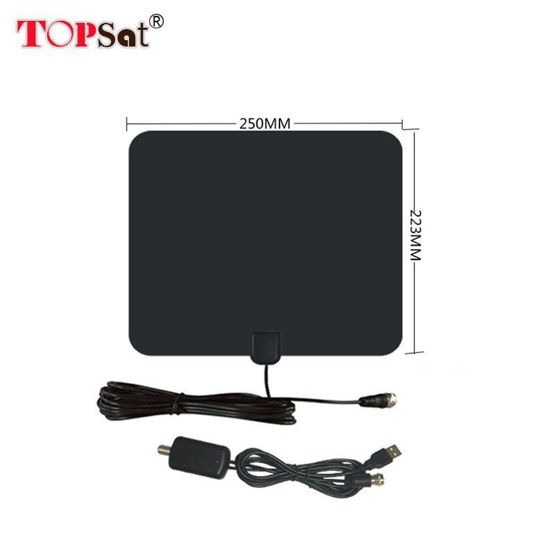 TV Antenna amplifier HDTV 50 Miles Range Indoor TV Antenna with Amplifier Signal Booster High Gain For DVB-T2 Sateiite Receiver