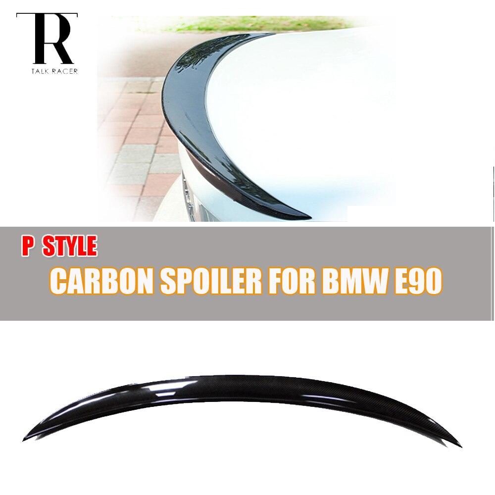 E90 P Style Carbon Fiber Rear Wing Spoiler for BMW E90 316i 318i 320i 325i 330i 335i 316d 318d 320d 325d 330d 335d 2005 - 2011 элемент салона e90 318i 320i 325i 330i
