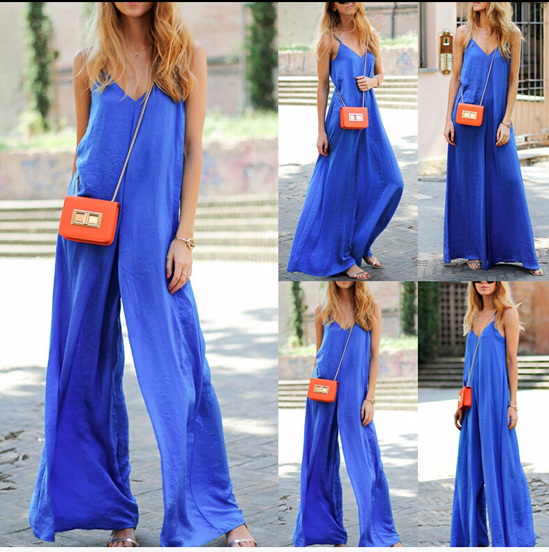 New Fashion Sexy Summer Women Hot Clubwear Soft Playsuit Loose Party Jumpsuit Romper Trousers