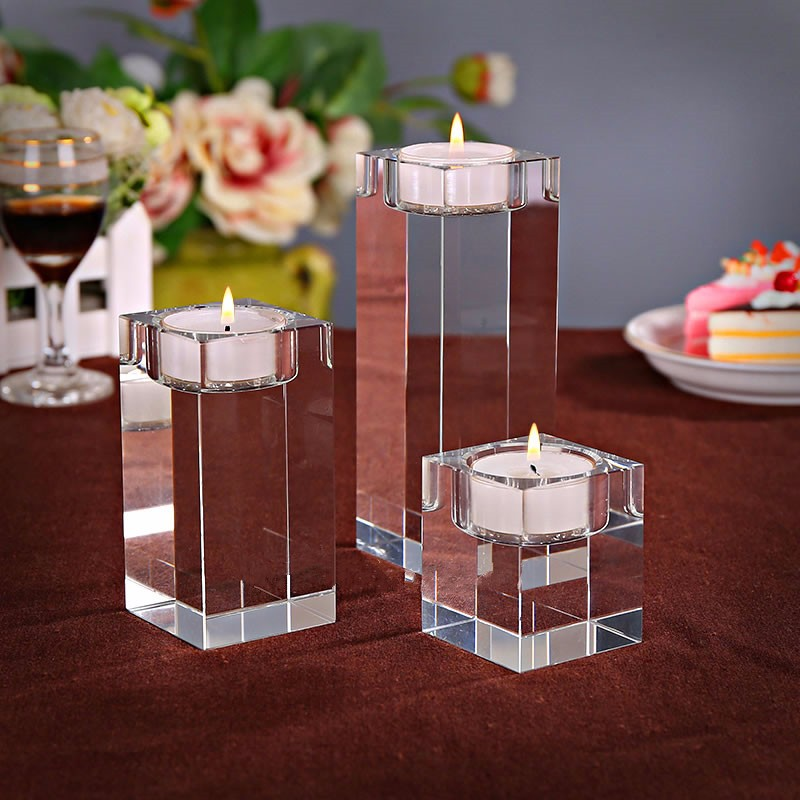Wholesale 100 brand new romantic European style home decoration Crystal candle holder Free shipping in Candle Holders from Home Garden