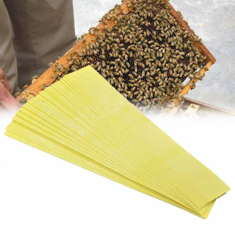 20pcs/lot Safe Acaricide Strip Fluvalinate Bee Mite Killing Beekeeping Pest Control Pest Control Repellent For Beekeeping