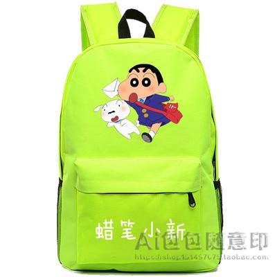 Anime Crayon Shin-chan Cosplay 2017 new student anime men and women shoulder bag backpack travel bag
