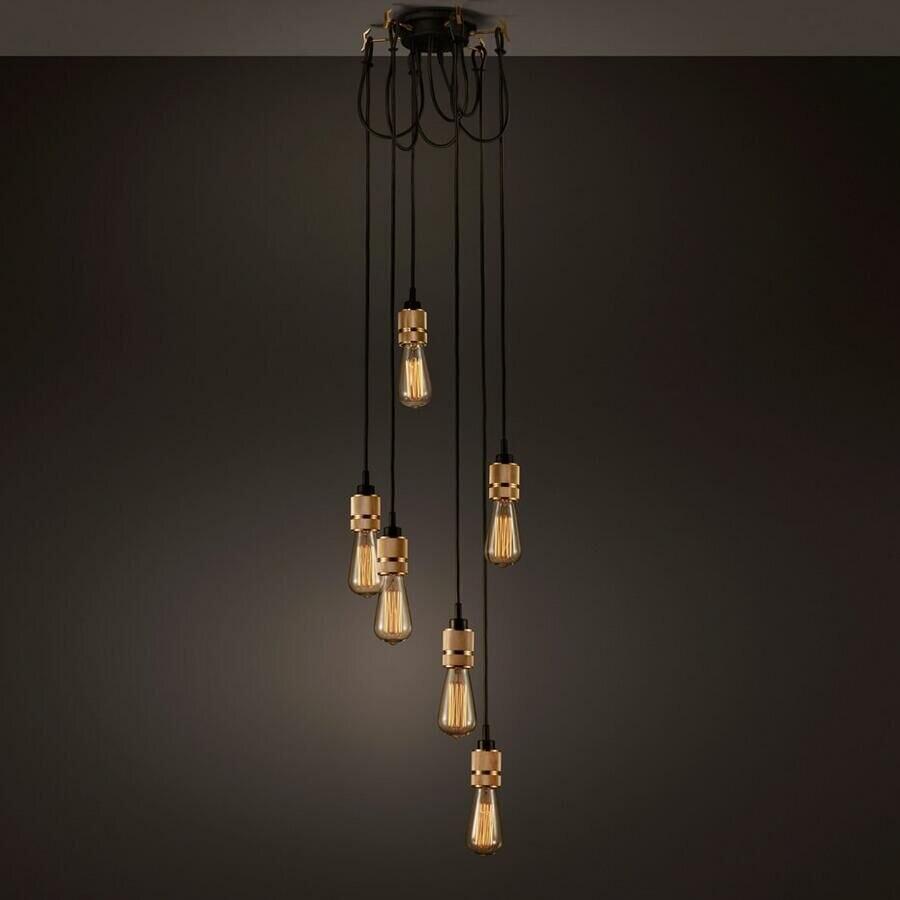 Creative industrial lamps - Ambient Light Vintage Industrial Hooked Pendant 6 0 Creative Lights Restaurant Living Room Pendant Lamps Edison Bulb