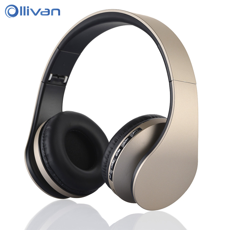 4 in 1 Stereo Wireless Bluetooth Headset Earphones Headphones with Mic TF SD Card FM Radio for SmartPhone Mp3 player Tablet PC zealot b570 headset lcd foldable on ear wireless stereo bluetooth v4 0 headphones with fm radio tf card mp3 for smart phone