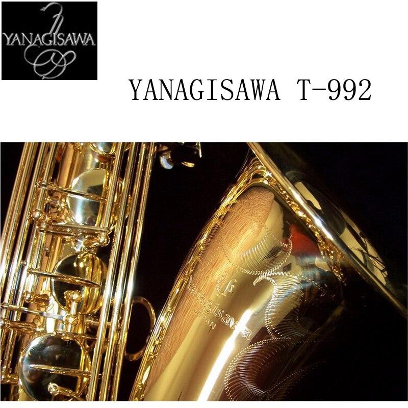 2017 T-902 YANAGISAWA Saxofone Tenor Profissional de Suporte Dourado Chapeado e Laca de Ouro Saxofone Tenor Sax com Caso