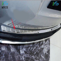 High quality stainless steel Rear bumper Protector Sill 2014 2015 For toyota RAV4 rav 4