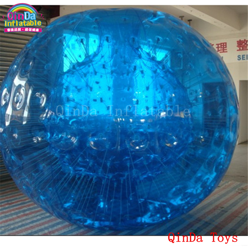 Free <font><b>air</b></font> pump inflatable human <font><b>inside</b></font> zorb ball, <font><b>blue</b></font> aqua zorb ball for sale