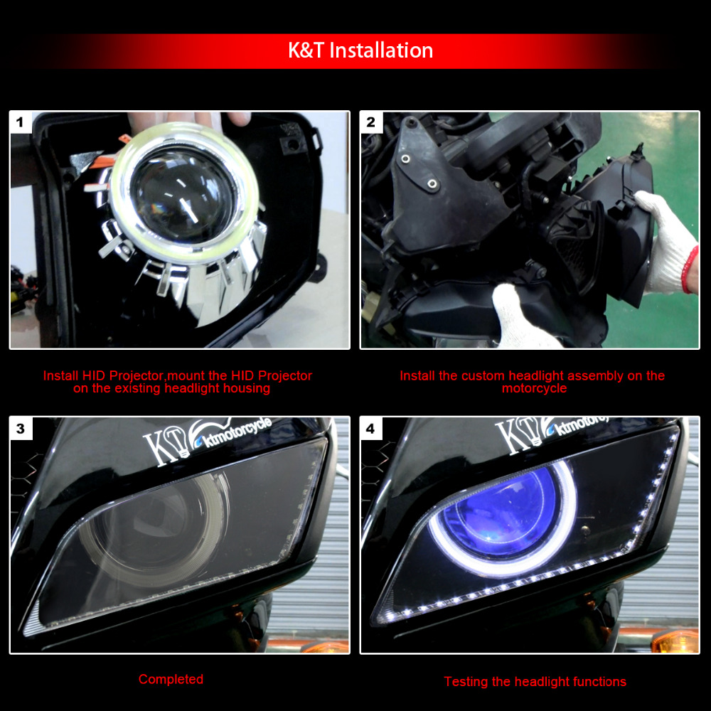 hight resolution of kt headlight fits for honda cbr1000rr 2008 2016 led angel eyes green demon eyes motorcycle hid bi xenon projector lens 13 14 15 on aliexpress com alibaba