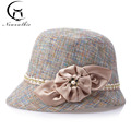 Korean Spring and Summer Fashion Hat Section Linen Visor Basin Hat Lady Sunscreen Fashion Hat One Generation