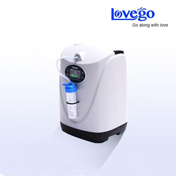 Zwei stunden batterie mit LoveGo LG102 tragbare sauerstoff konzentrator generator/im vergleich mit simplygo/5LPM/95%