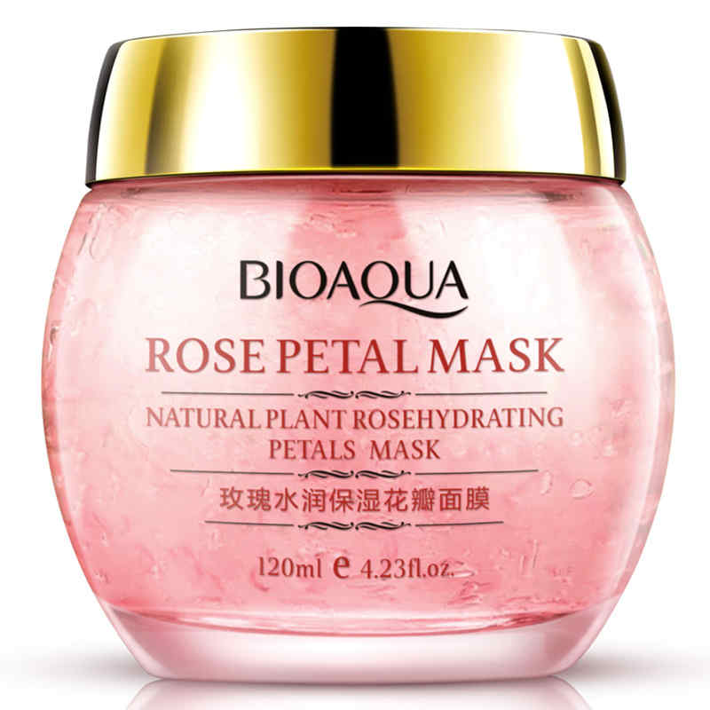 BIOAQUA No Wash Rose Petal Sleeping Mask Cream Essence Moisturizing Night Cream Anti Aging Anti Wrinkle Nutrition Face Mask rosehip rose moisturizing cream 125ml
