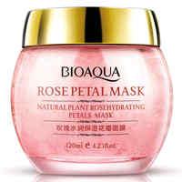 BIOAQUA No Wash Rose Petal Sleeping Mask Cream Essence Moisturizing Night Cream Anti Aging Anti Wrinkle Nutrition Face Mask Facial Care