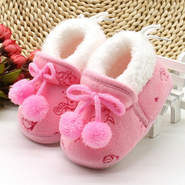 8aa2fdf61d36 Baby Shoes Baby Boots Booties Boy Girl Winter First Walker Soft Infant Boy  Warm Shoe 11-13CM