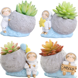Image 5 - Roogo Cute Girl FlowerPot Modern Succulent Pot Home Garden Plant Pot For Balcony Decoration Orchid Pots Planter Cachepot