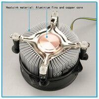 4Pin PWM CPU Cooling Fan Cooler Aluminum Fan Double Platform Radiator 12V DC Processor Cooler Heatsink