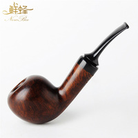 2018 NEWBEE Handmade Bruyere wood Tobacco Pipe Cigarettes Smoking Tobacco Pipe for gentleman as gifts aa0247