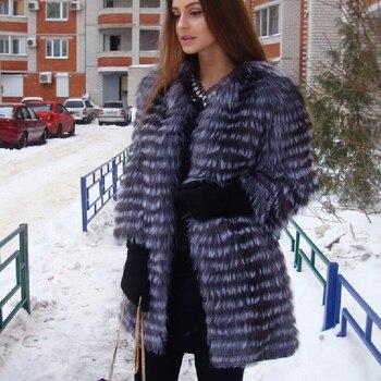 Women's Winter Real Fox Fur Coat