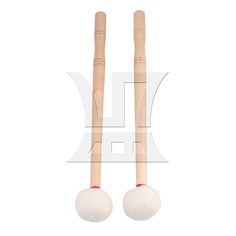 Yibuy 12 Inch Timpani Mallet Timpani Stick Multi-Purpose Felt Mallet Soft Felt Head Wood Handle Pack of 2 Yibuy 12 Inch Timpani Mallet Timpani Stick Multi-Purpose Felt Mallet Soft Felt Head Wood Handle Pack of 2