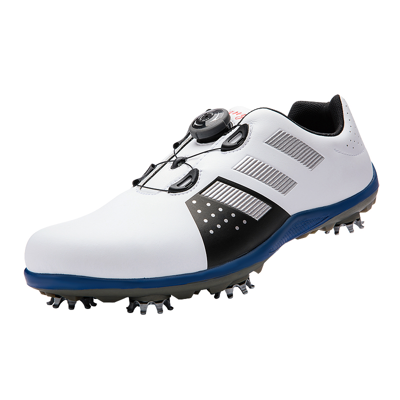 New arrival golf shoes Men shoes Synthetic sport water-proof sneakers wide fitted sport shoes footwear striped fitted sheet