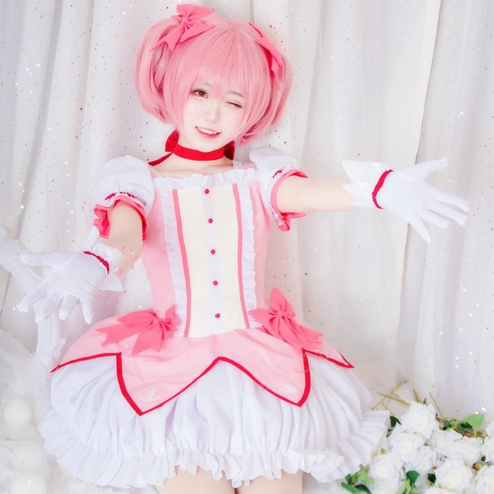 Anime Puella Magi Madoka Magica Kaname Madoka cosplay costume dress full set adult costume all size